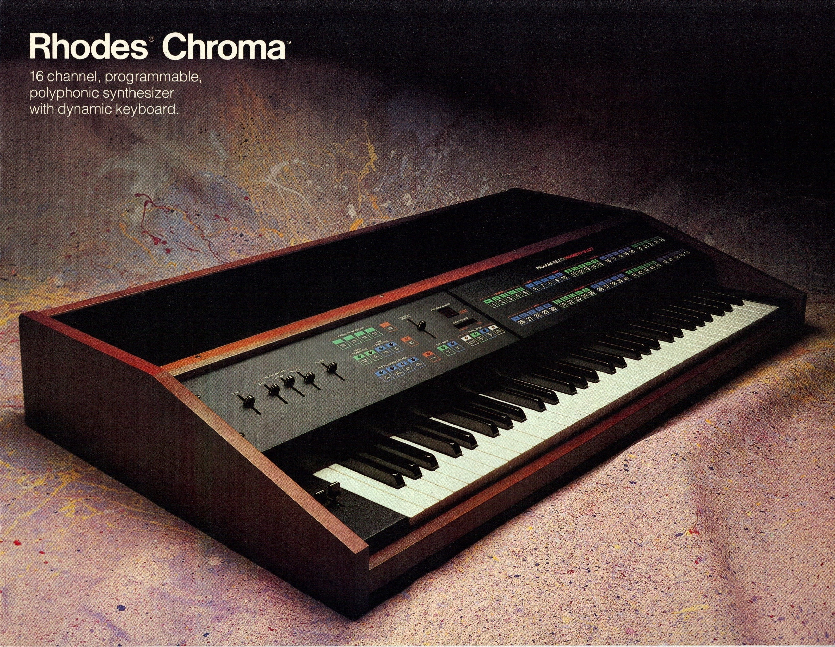 Rhodes Chroma Product Brochure Mono To Stereo Synthesizer Control