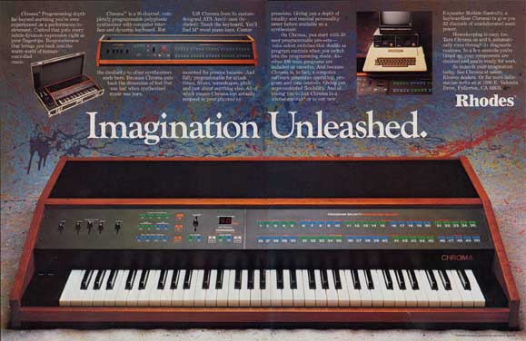 Chroma ad from December 1982 Keyboard magazine: Imagination Unleashed